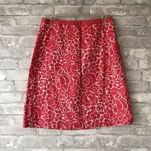 Boden pink floral skirt